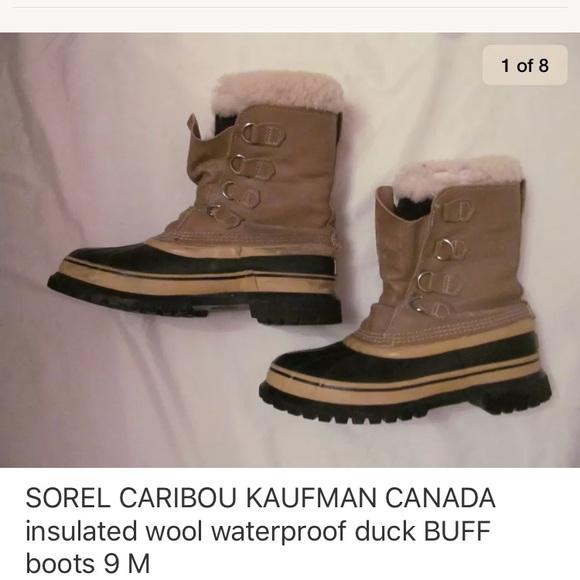 1b4a5d539ef SOREL CARIBOU KAUFMAN BUFF insulated duck boots 9